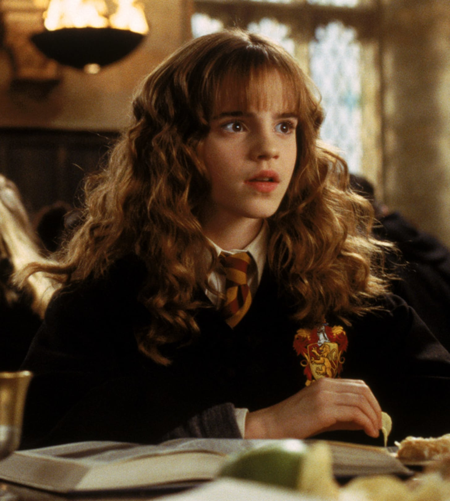 HARRY POTTER AND THE CHAMBER OF SECRETS, Hugh Mitchell, Emma Watson, 2002, (c) Warner Brothers/courtesy Everett Collection