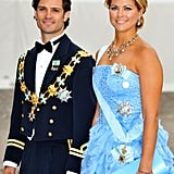 The prince looked dashing alongside his younger sister, Princess Madeleine of Sweden, in June 2010.