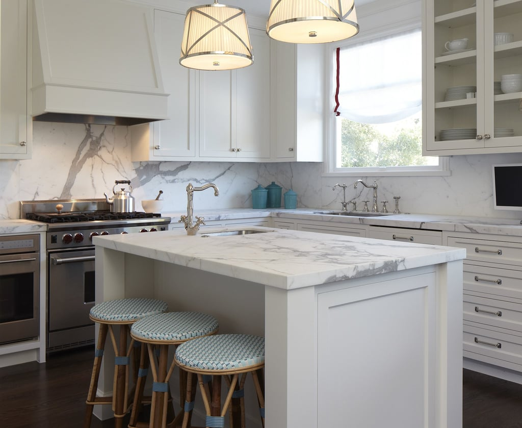 A white marble kitchen is so Elsa.
