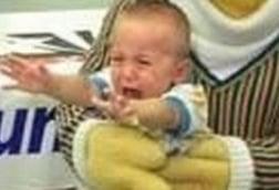 Kid Cries In Bert's Lap