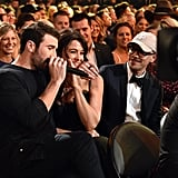 Sam Hunt's Fiancée Blushes 50 Shades of Red During His Adorable ACMs Performance
