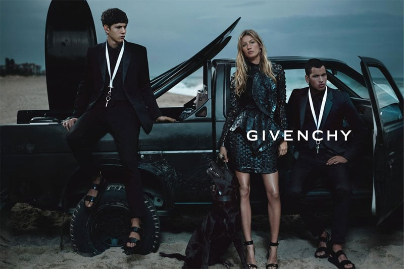 Gisele hit the beach in Givenchy's finest for its Spring '12 ads. Source: Fashion Gone Rogue