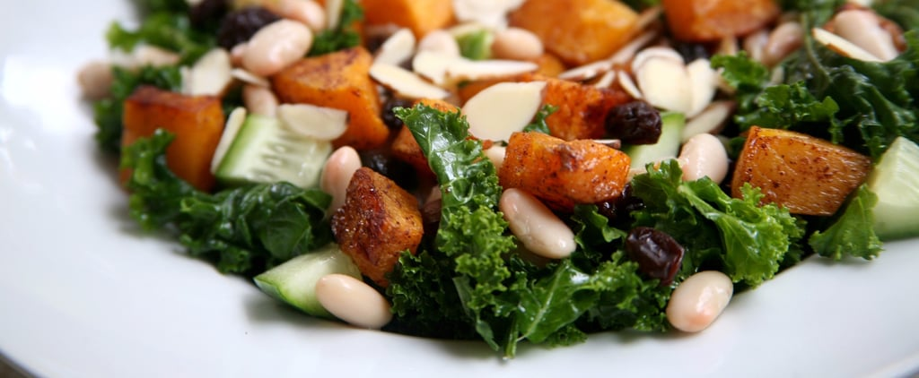 Maple Butternut Squash and Kale Salad