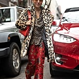 Style Your Leopard-Print Coat With: A Leopard Top and Printed Pants