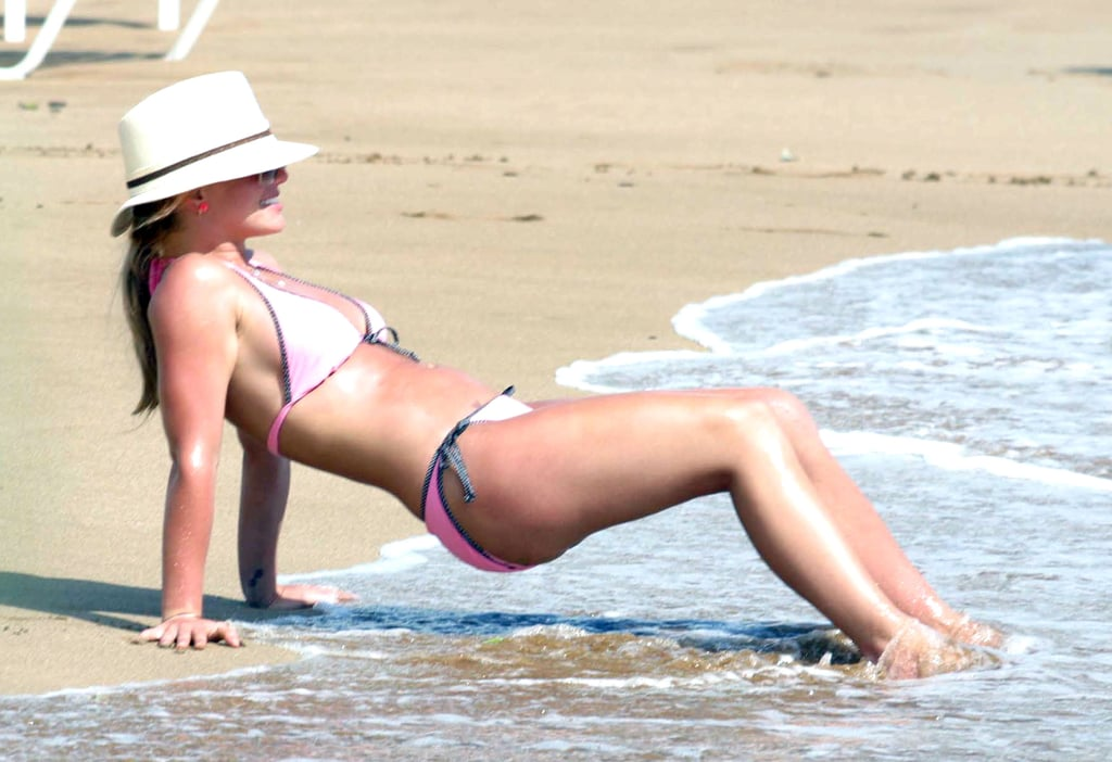 Britney Spears got a workout in during a trip to Hawaii in July 2004.