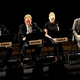 Tom Cavanagh, James Woods, Emma Stone, and Paul Rudd attended a live read of The Apartment in NYC.