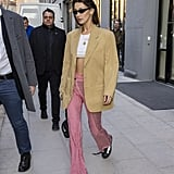 Bella Hadid's Street Style at Paris Fashion Week