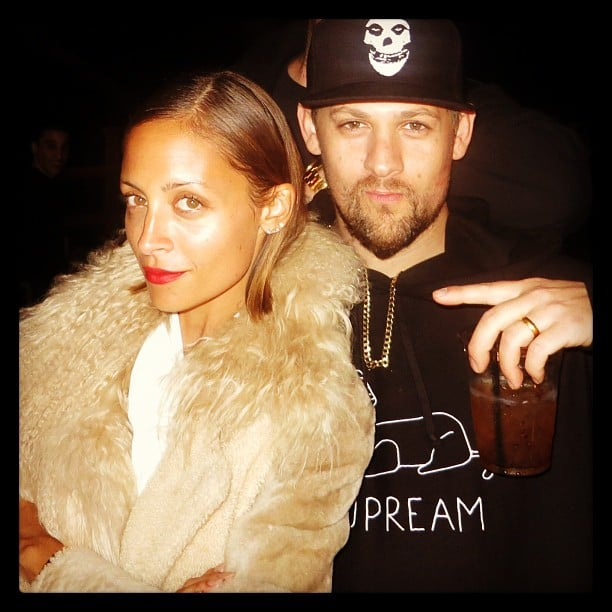 Nicole Richie and Joel Madden posed for this cool candid during a night out on the town. Source: Instagram user nicolerichie