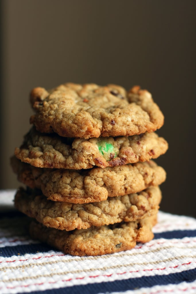 Mint, Peanut Butter, and Oatmeal Chip Cookie