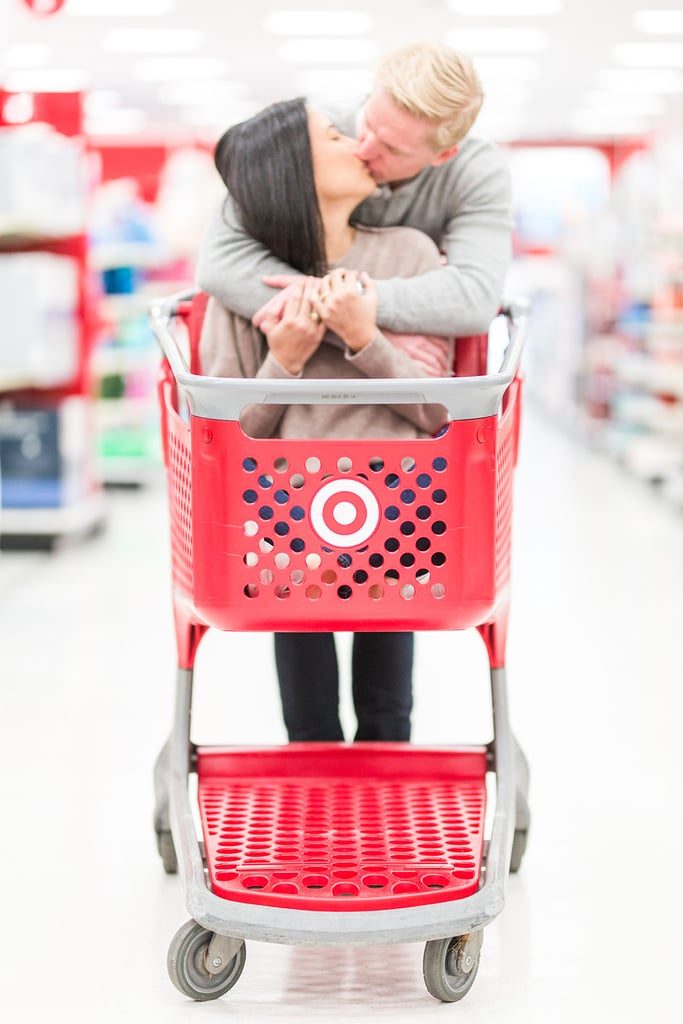 "If you've ever found yourself arguing with a friend over who loves Target more, just know, this couple have you beat. Dyann and Doug took their love for Target to a whole new level by capturing their engagement shoot inside the Dallas store, and honestly, it's so relatable. From pillow fights in Target's aisles to riding bikes in its outdoor department, splitting a bag of pizza rolls in its frozen-food section, and even sharing a few smooches in its home aisle, we're absolutely smitten by their playful photographs. Dyann and Doug's photographer, Sami Bruemmer, even adored the shoot, saying, ""It was such a blast capturing their love!""  If you're now considering having a photo op in Target (as am I) or simply intrigued to see the rest of this lighthearted shoot, have a look through the photos ahead!      Related:                                                                                                           This Office-Themed Wedding Deserves ALL of Michael Scott's Dundies"