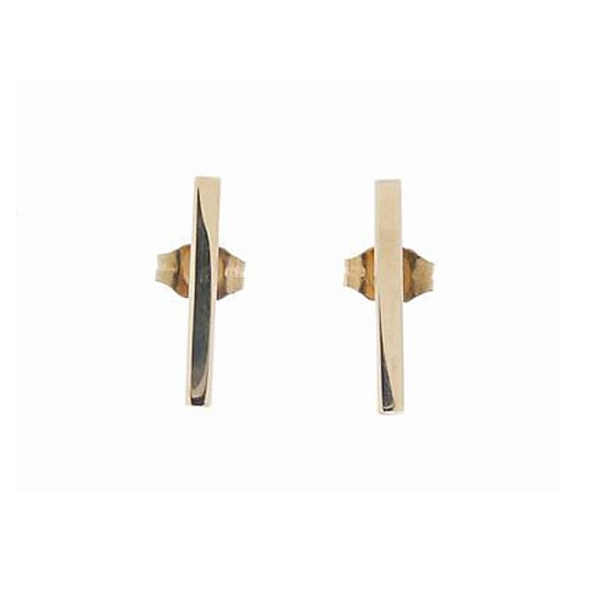 Jennifer Meyer Gold Bar Stud Earrings, $300