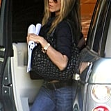 Jennifer Aniston Out Doing Business