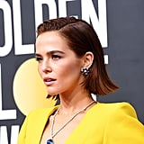 Zoey Deutch's Titanic Necklace at the Golden Globes