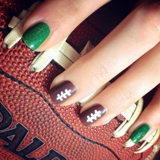 Super Bowl Nail Art Ideas
