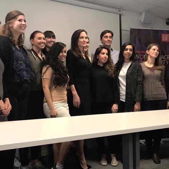 Angelina Jolie's First Lecture at London School of Economics