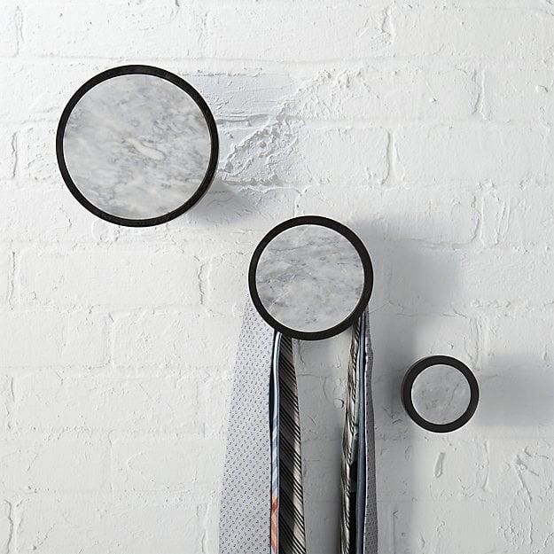 Buy Ferm Living Stone Wall Hook - Black Marble - Large | AMARA |Marble Wall Hooks