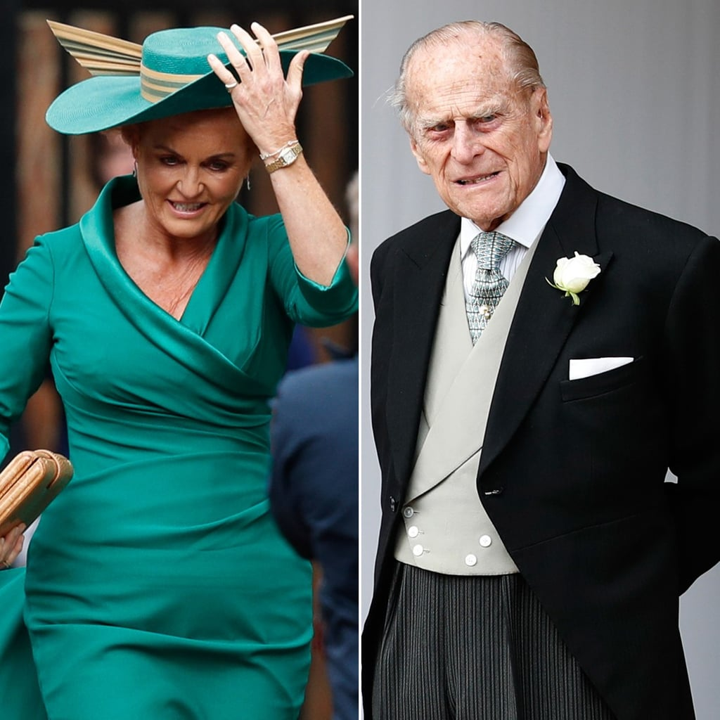 Prince Philip and Sarah Ferguson at Eugenie's Wedding