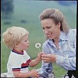 Princess Anne With Son Peter in the Late 1970s