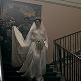 The Crown re-created Princess Margaret's wedding gown down to the last detail.