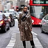 Style Your Leopard-Print Coat With: Black Basics and Patent Leather Boots