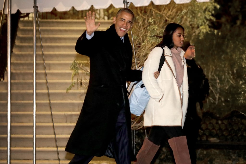 President Obama and his family have officially kicked off their Christmas vacation! The first family was all smiles as they boarded Marine One in Washington, DC, on Friday night for their annual trip to Hawaii. While Michelle casually mingled with Malia, Obama kept his youngest daughter, Sasha, close as they made their way across the South Lawn. The four have certainly had some cute moments over the past few months. Aside from spreading holiday cheer with their star-studded Christmas tree lighting ceremony, they sent everyone into a frenzy when they released their final White House Christmas card. It goes without saying that we are definitely going to miss their sweet family outings when they leave office.