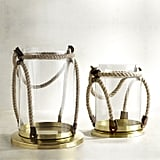 Go for a nautical look with these Pier 1 Imports Glass & Rope Lanterns ($12, originally $40).