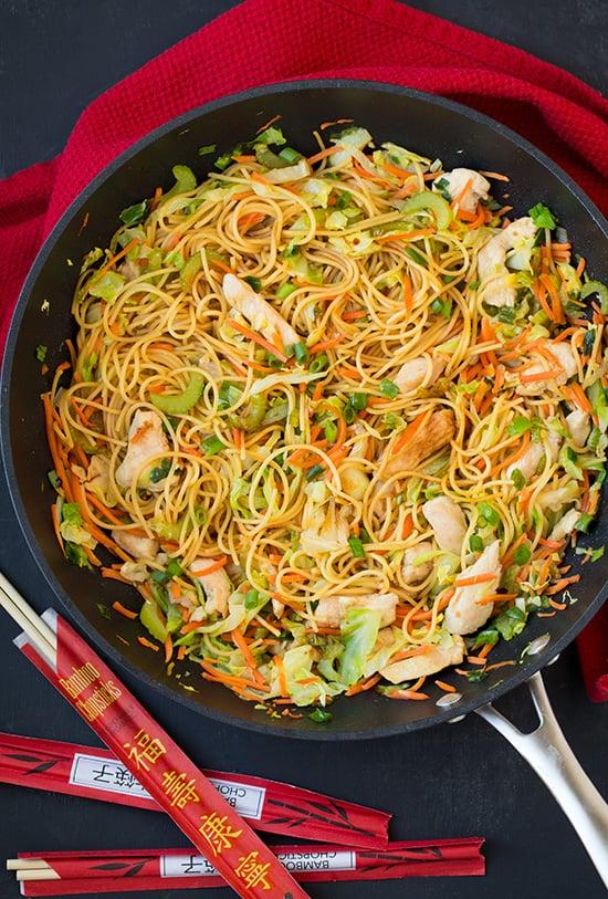 Chicken chow mein healthy chinese food recipes popsugar fitness chicken chow mein forumfinder Images