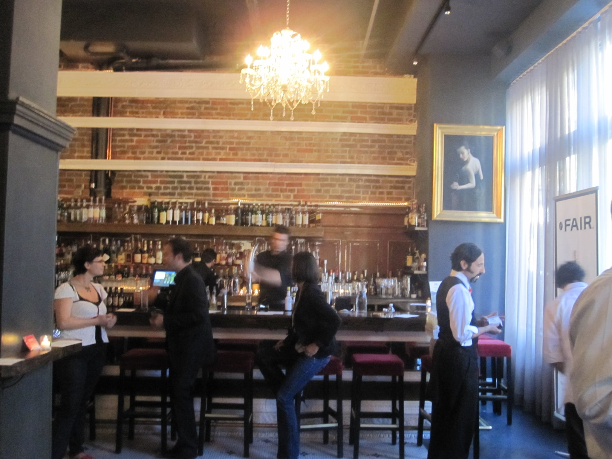 The party was hosted at a recently opened hotspot, The Burritt Room.