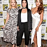 Pictured: Eliza Taylor, Marie Avgeropoulos, and Lindsey Morgan.
