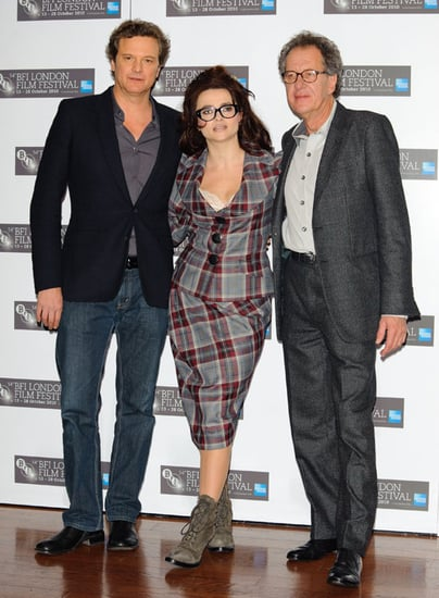 Pictures of Helena Bonham Carter, Colin Firth, Geoffrey Rush at The King's Speech Press Conference London Film Festival
