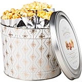 Caramel Corn, Cheese, and Butter Flavored Christmas Popcorn Tin