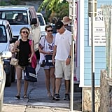 Julianne Hough shopped with friends in St. Barts.