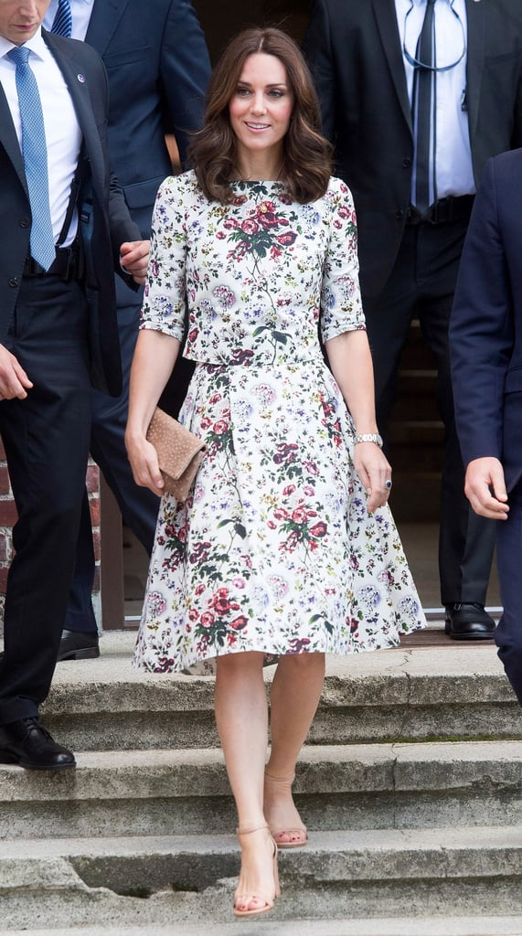 Kate Middleton Erdem Top and Skirt in Poland