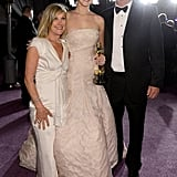Jennifer Lawrence had the support of her parents, Karen Lawrence and Gary Lawrence, at the Governors Ball.