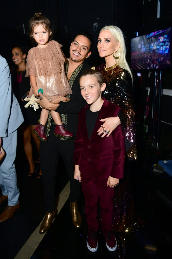 Pictured: Evan Ross, Ashlee Simpson, Bronx Wentz and Jagger Ross