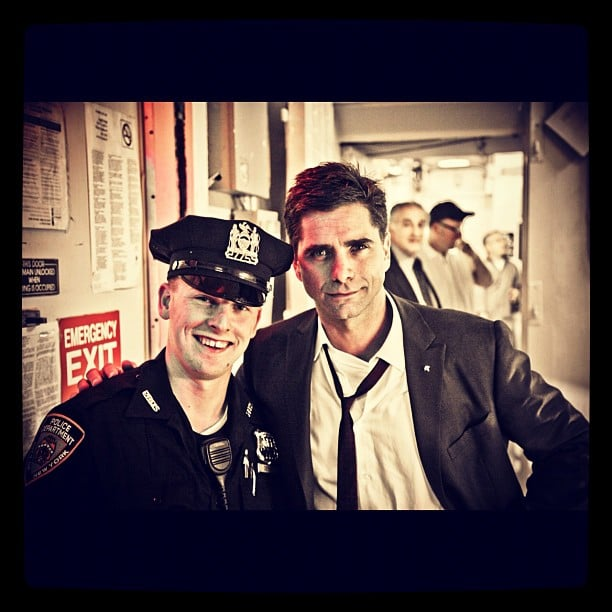 John Stamos showed respect for the NYPD. Source: Instagram user jockostamps