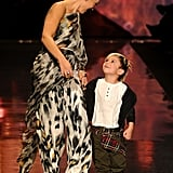 Gwen Does a Fashion Week Victory Lap With Kingston by Her Side