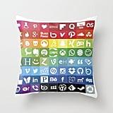Rainbow Social Throw Pillow ($20-$35)