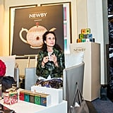 Andie MacDowell enjoys a cuppa