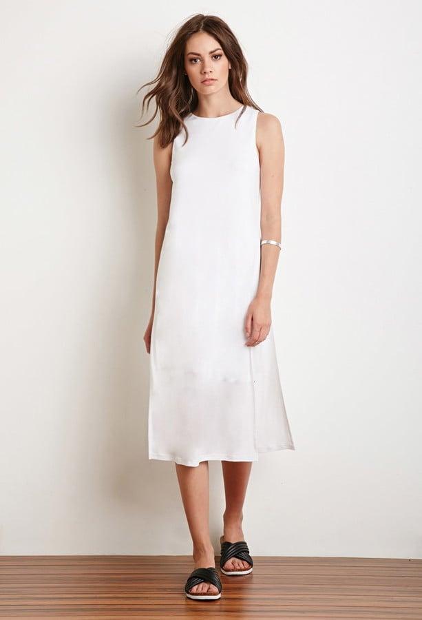 Forever 21 Side Slit Midi Dress 28 Affordable White Dresses