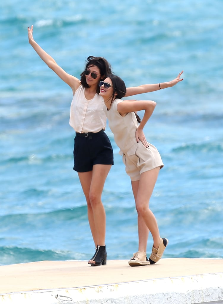 Kendall Jenner and a pal posed in front of the stunning water.