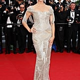 Heidi Klum arrived at the premiere of The Paperboy in Cannes.