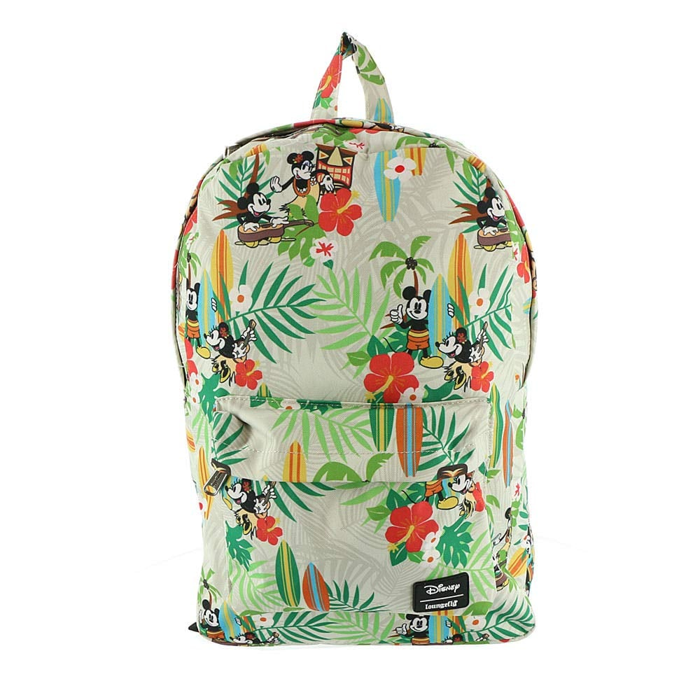 Loungefly Mickey & Minnie Mouse Tiki Print Backpack