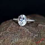 WanLoveDesigns Custom Celebrity Light Pink Sapphire & Diamond Engagement Ring