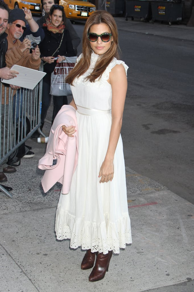 Eva Mendes Makes a Spring Stop on The Daily Show