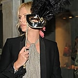Charlize Theron masked herself while at Salma Hayek and Francois-Henri Pinault's Venician wedding in April 2009.