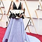 Saoirse Ronan's Black and Purple Gucci Gown at Oscars 2020