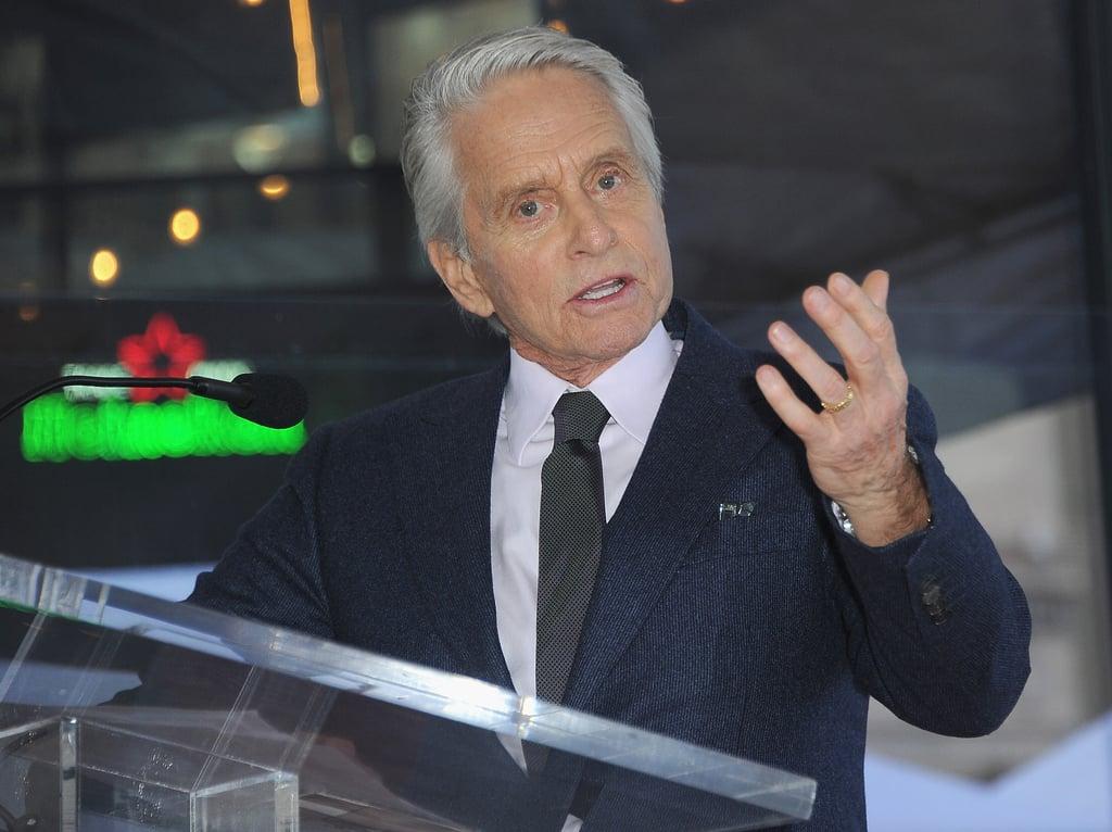 Michael Douglas Hollywood Walk of Fame Ceremony