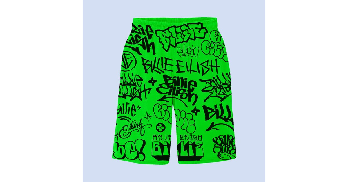 Green Graffiti Shorts Stop Everything Because Billie Eilish Dropped A Limited Edition Collection Popsugar Fashion Photo 12