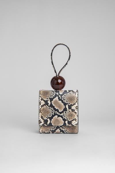 By Far Ball Bag Snake Print Leather